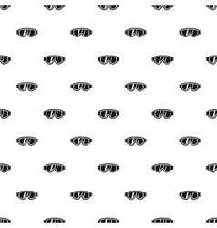 Glasses for snowboarding pattern simple style vector image vector image