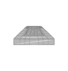 Pool icon black monochrome style vector image