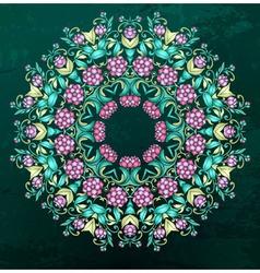 Round indian pattern mandala vector
