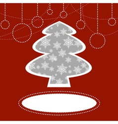 Holiday background with Christmas tree vector image vector image
