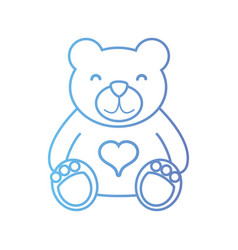 line nice teddy bear toy to game vector image vector image