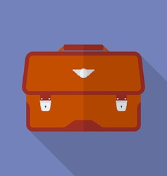 Portfolio icon Modern Flat style with a long vector image vector image