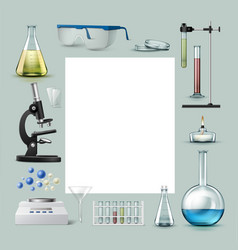 chemical laboratory equipment vector image vector image