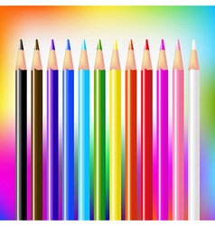 Colour Pencils On Bright Background vector image vector image