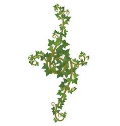 ivy branch decor vector image