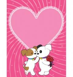 puppy valentine vector image vector image