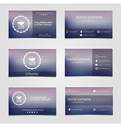 Set of business cards for coffee vector image