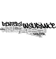 what you should know about renters insurance text vector image vector image