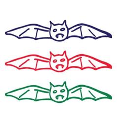 bat doodle vector image vector image