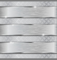 non slip metallic surface with brushed plates vector image