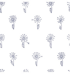 pattern with dandelions vector image vector image