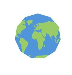 Polygonal world map Unusual earth Atlas of world vector image