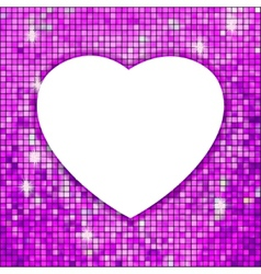 Purple frame in the shape of heart EPS 8 vector image