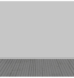 The white walls and old wooden floor vector image vector image