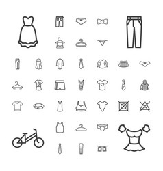 37 clothes icons vector