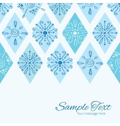 Abstract blue doodle rhombus horizontal vector
