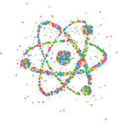 Abstract nucleus of an atom vector