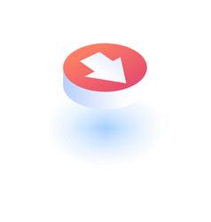 arrow icon isometric style vector image