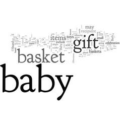 bagift basket vector image