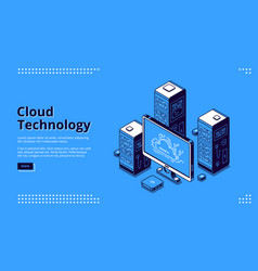 banner cloud technology vector image