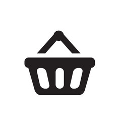 basket icon in flat style icon for apps ui vector image