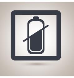 Battery level icon design vector
