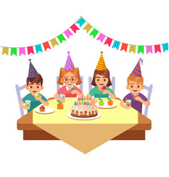 birthday happy child children in fective cone vector image