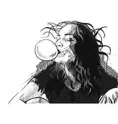 bubble gum vector image