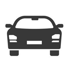 car icon black automobile and transportation vector image