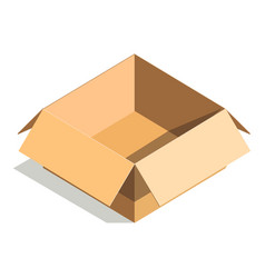 Carton paper box or cardboard 3d post package vector