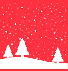 christmas poster winter background vector image
