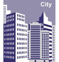 City tall buildings vector