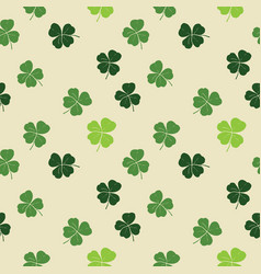 Clover leaf hand drawn doodle seamless pattern vector