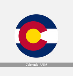 colorado round circle flag vector image