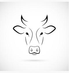 cow muzzle silhouette mammal line icon vector image