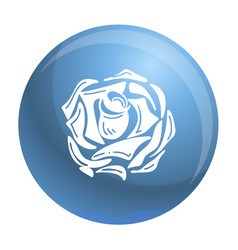 Daisy rose icon simple style vector