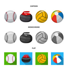 Design of sport and ball sign set of sport vector