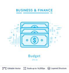 dollars budget symbol on white vector image