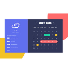 done day planner and calendar app ui ux design ui vector image