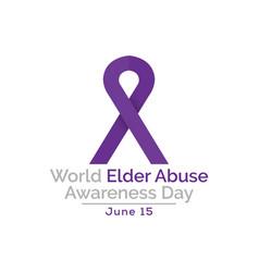 Elder abuse awareness day vector