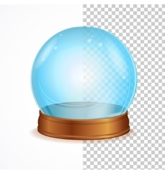 empty blue crystal ball vector image