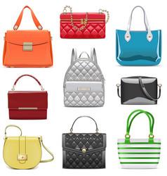 Fashion female handbags vector