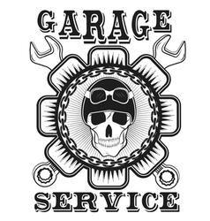 garage label auto service vector image