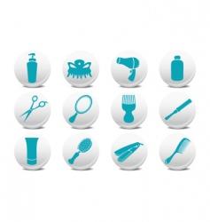 Hairdressing salon buttons vector