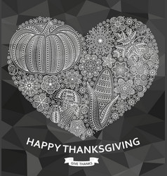 happy thanksgiving background with creative vector image