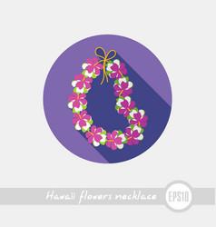 Hawaii flowers necklace wreath icon vacation vector