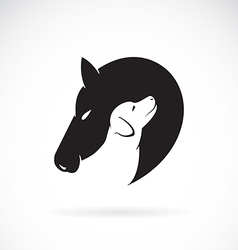 Horse and Dog vector