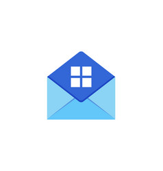 house mail logo icon design vector image