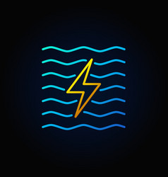 Hydroelectricity minimal colorful icon vector