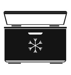 Ice cream refrigerator icon simple style vector